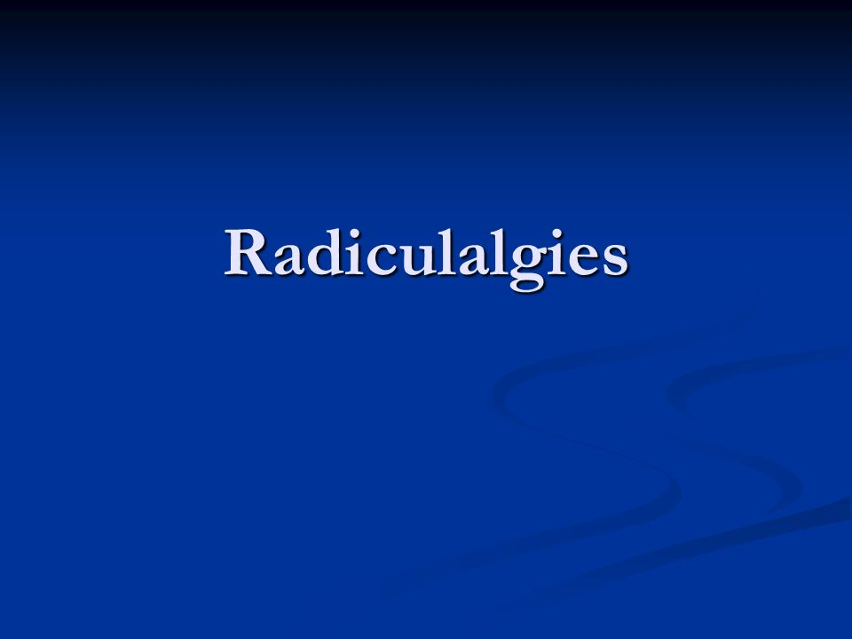 Radiculalgies .PDF