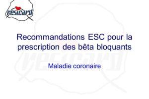 Recommandations ESC pour la prescription des bêta bloquants .PDF
