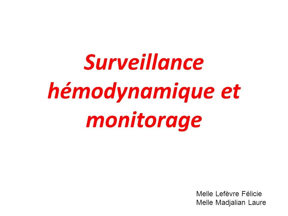 Surveillance hémodynamique et monitorage .PDF