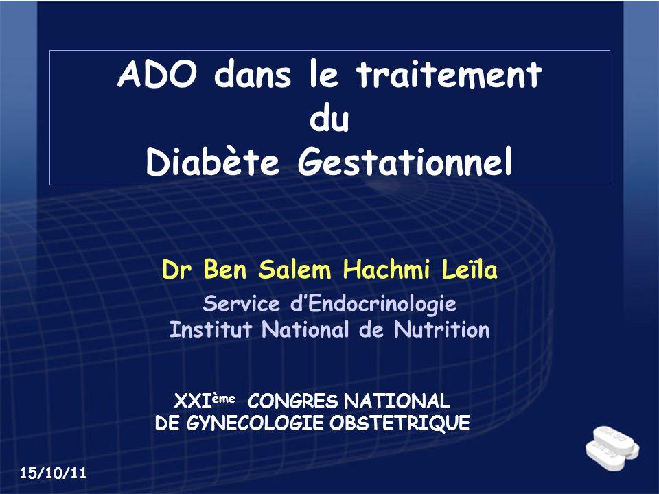 ADO dans le traitement du Diabète Gestationnel .PDF