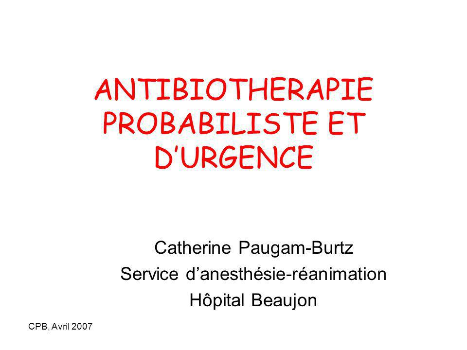 ANTIBIOTHERAPIE PROBABILISTE ET D'URGENCE .PDF