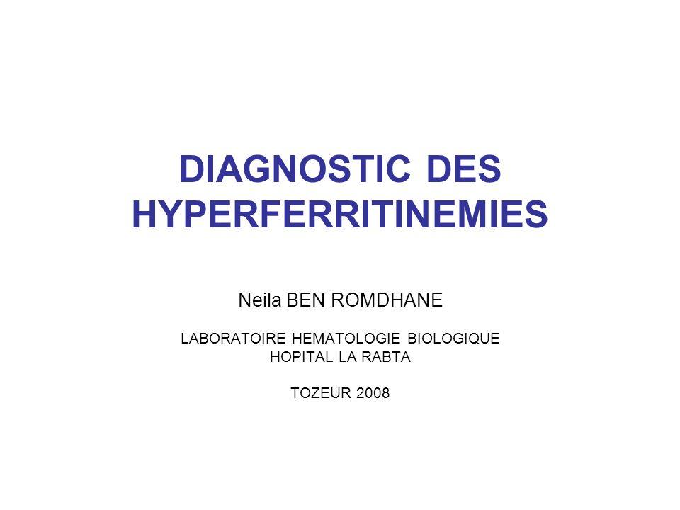 DIAGNOSTIC DES HYPERFERRITINEMIES .PDF