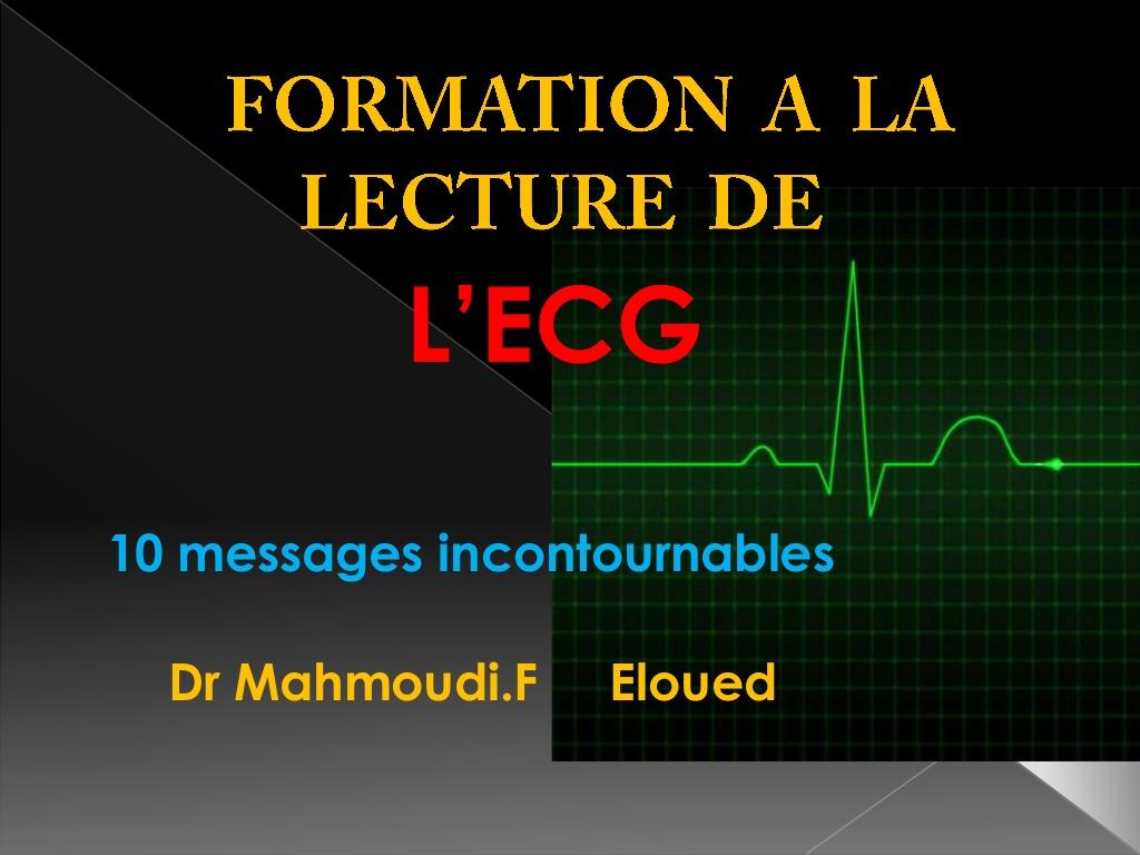 ECG LA LECTURE PRATIQUE POUR LES DEBUTANTS .PDF