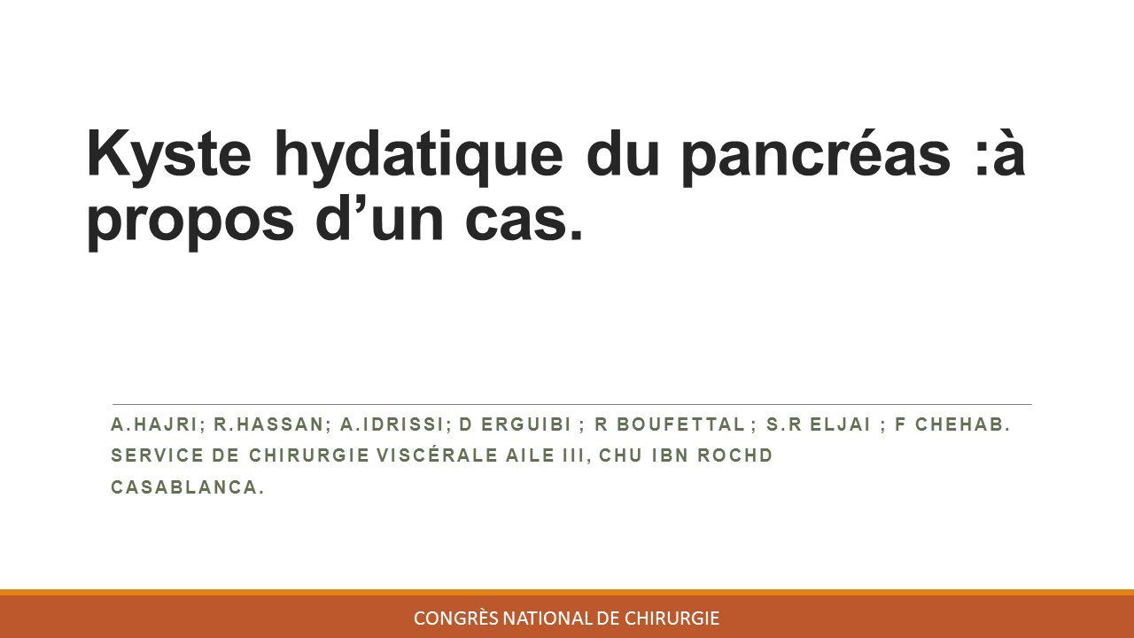 Kyste hydatique du pancréas : à propos d'un cas .PDF