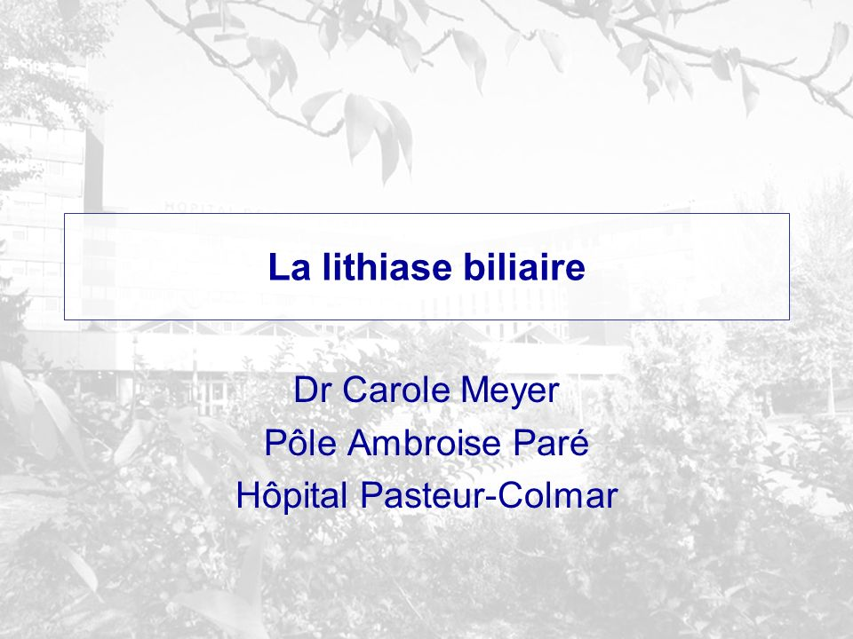 La lithiase biliaire .PDF