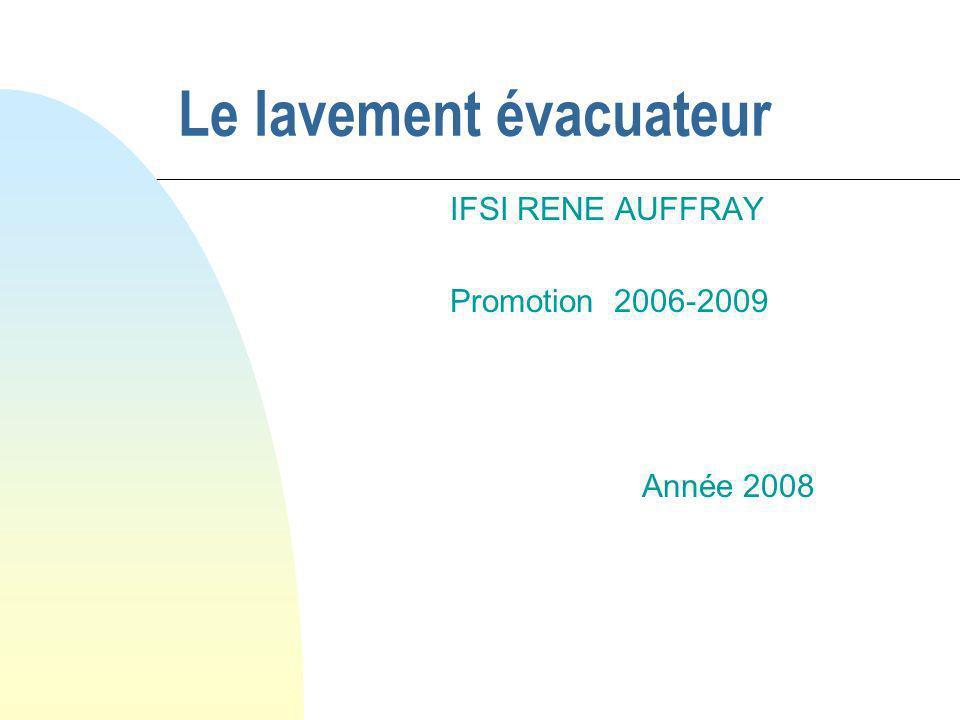 Le lavement évacuateur .PDF
