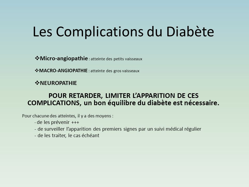 Les Complications du Diabète .PDF