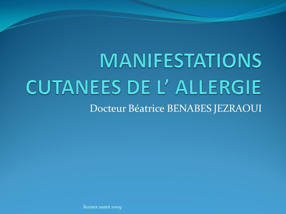 MANIFESTATIONS CUTANEES DE L' ALLERGIE .PDF