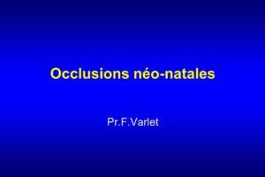 Occlusions néo-natales .PDF