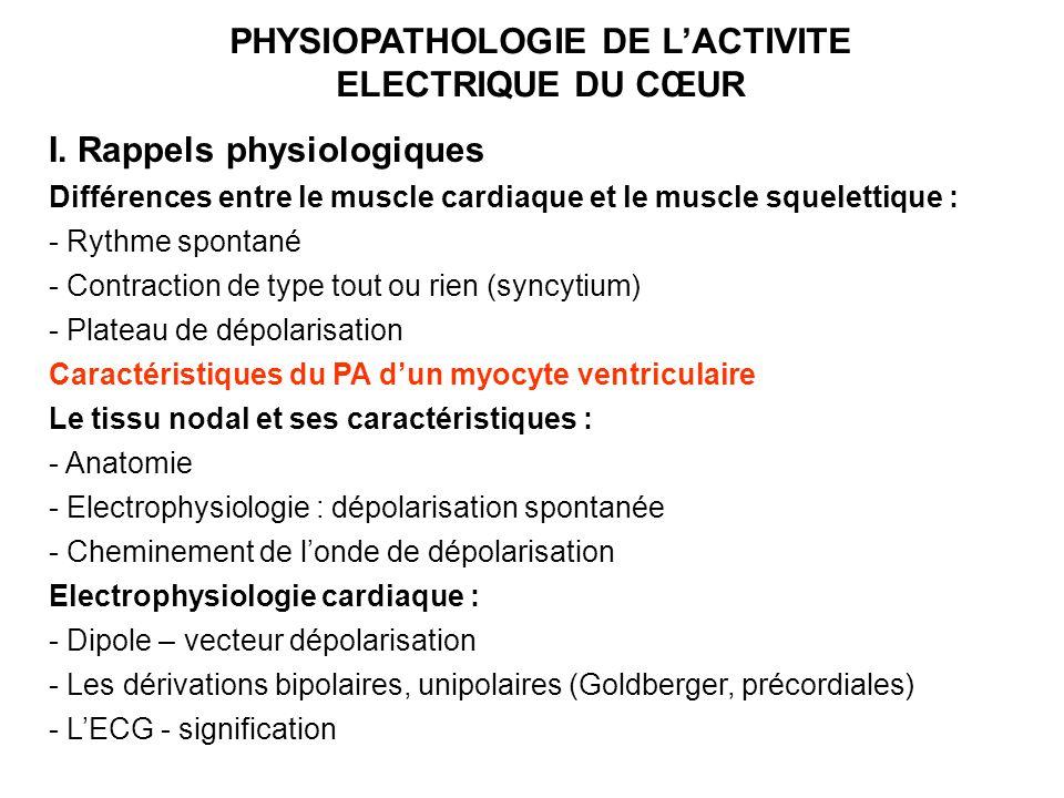 PHYSIOPATHOLOGIE DE L'ACTIVITE ELECTRIQUE DU CŒUR .PDF