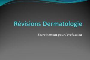 Révisions Dermatologie .QCM (PDF)