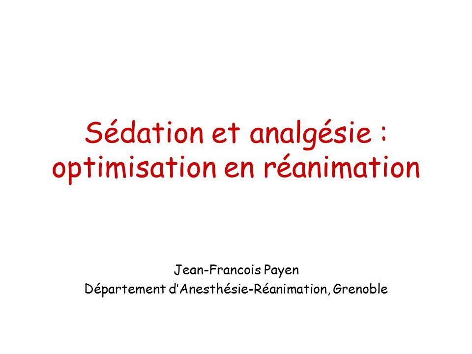Sédation et analgésie : optimisation en réanimation .PDF