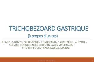 TRICHOBEZOARD GASTRIQUE .PDF