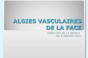 ALGIES VASCULAIRES DE LA FACE .PDF
