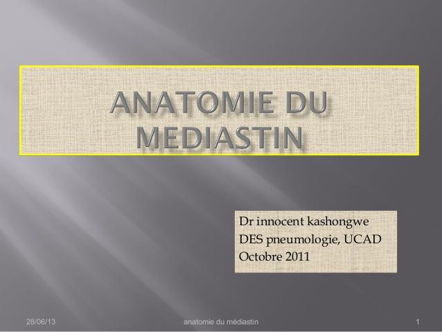 Anatomie du mediastin .PDF