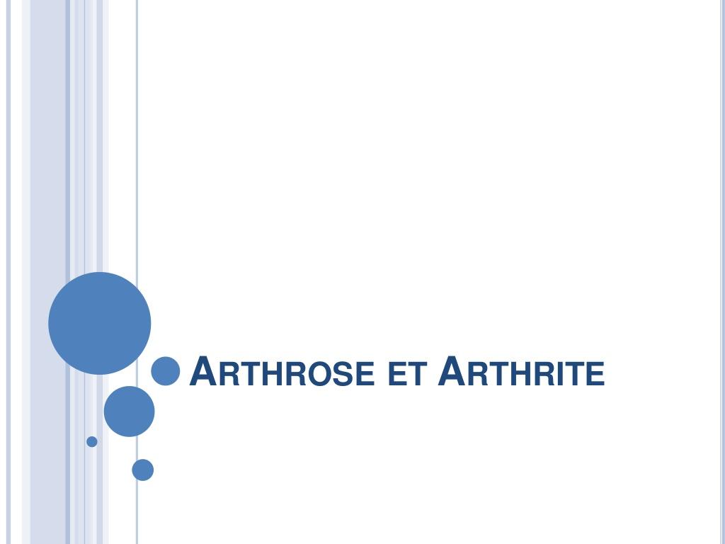 Arthrose et arthrite .PDF