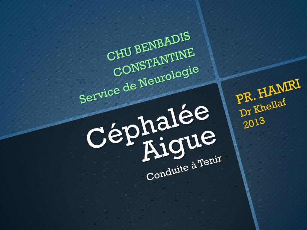 Céphalées Aigues .PDF