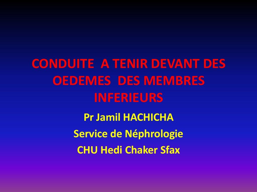 CAT devant des Œdèmes des Membres I inférieurs .PDF