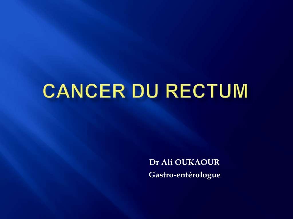 Cancer du rectum .PDF