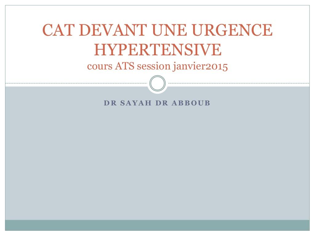Cat devant une urgence hypertensive .PDF