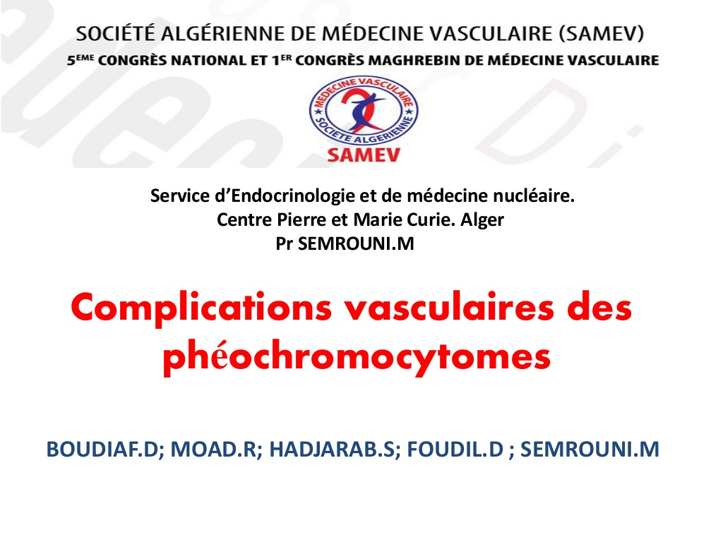 Complications vasculaires des phéochromocytomes .PDF