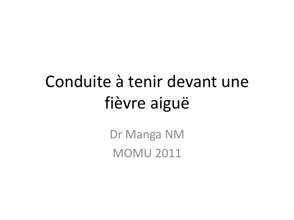 Conduite á tenir devant une fièvre aigue .PDF
