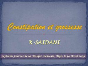 Constipation et grossesse .PDF