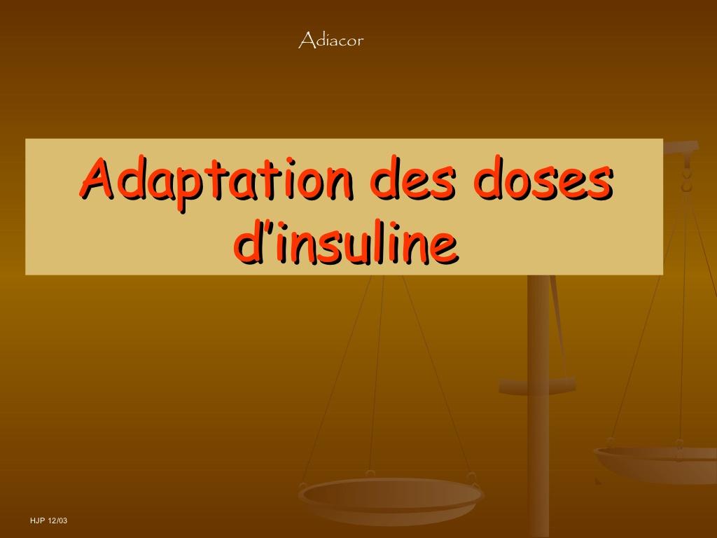 Cours de l 'adaptation des doses d'insuline.PDF