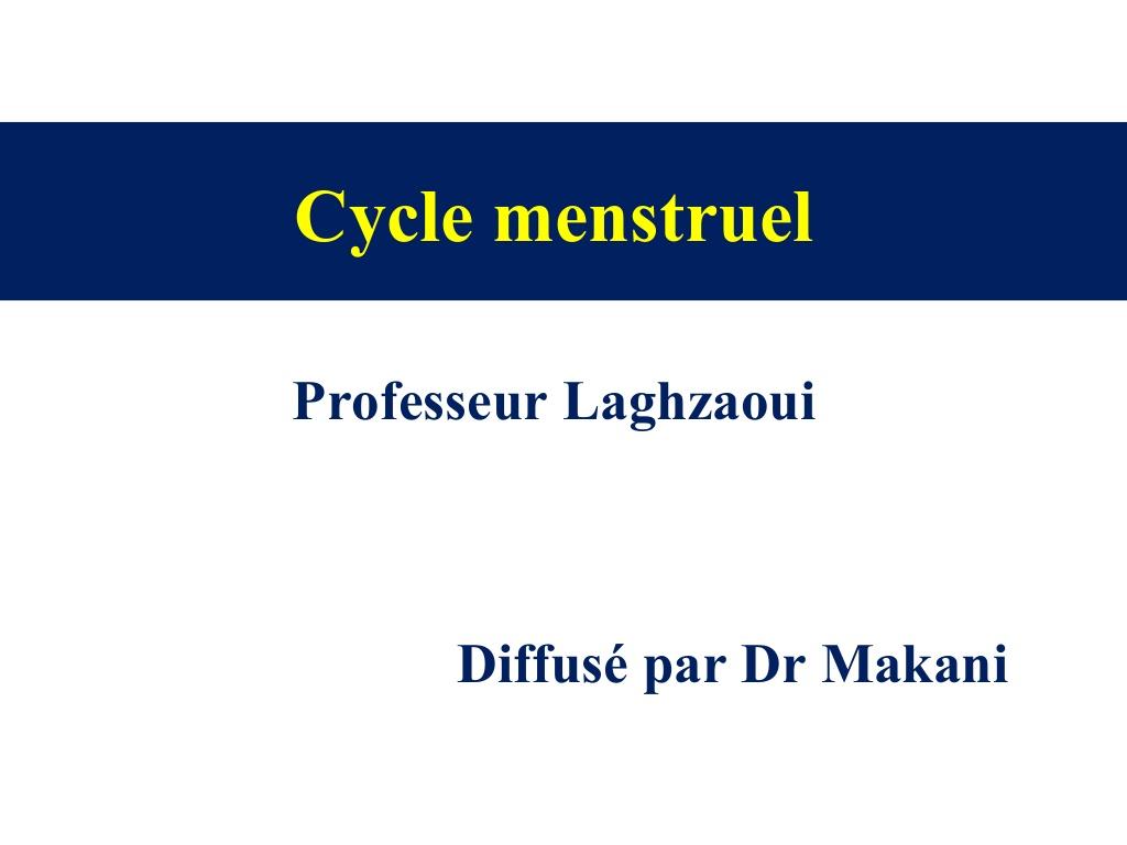 Physiologie du cycle menstruel .PDF