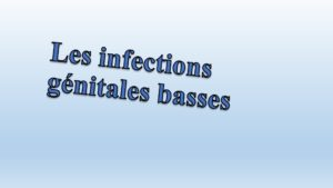 Infection génitale basse .PDF