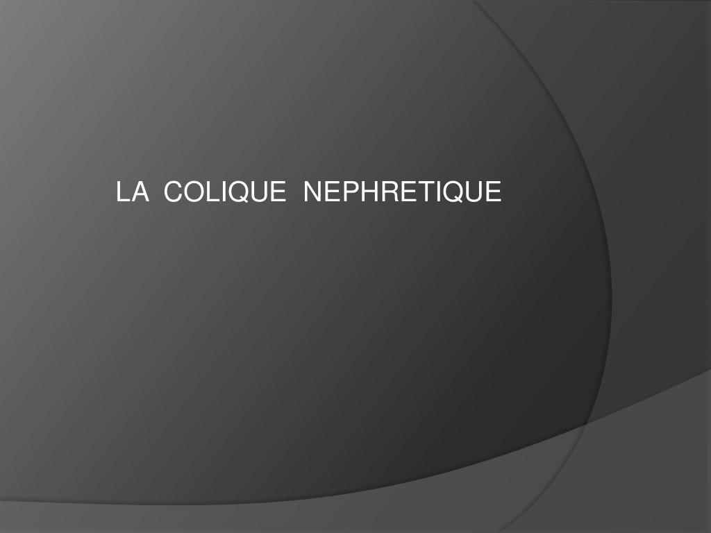 La colique néphrétique .PDF