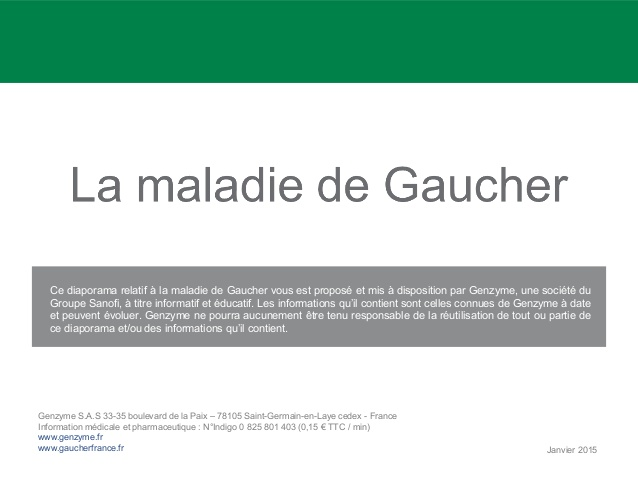La maladie de gaucher .PDF