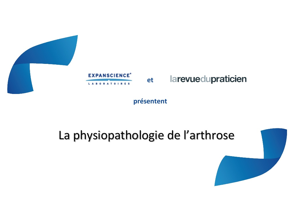 La physiopathologie de l'arthrose .PDF
