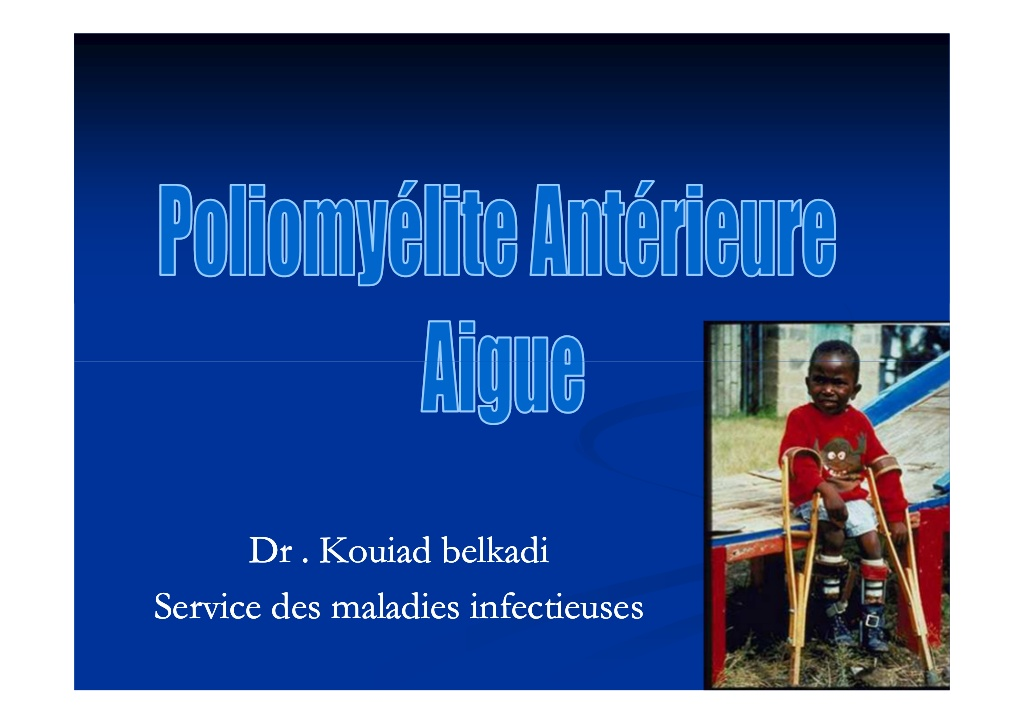 La poliomyélite aiguë .PDF