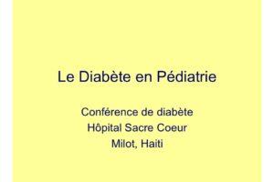 Le Diabète en Pédiatrie .PDF