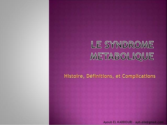 Le syndrome métabolique .PDF