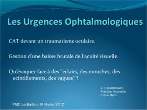 Les Urgences Ophtalmologiques .PDF