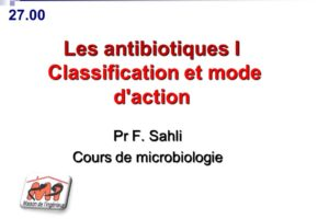 Les antibiotiques I Classification et mode d'action .PDF