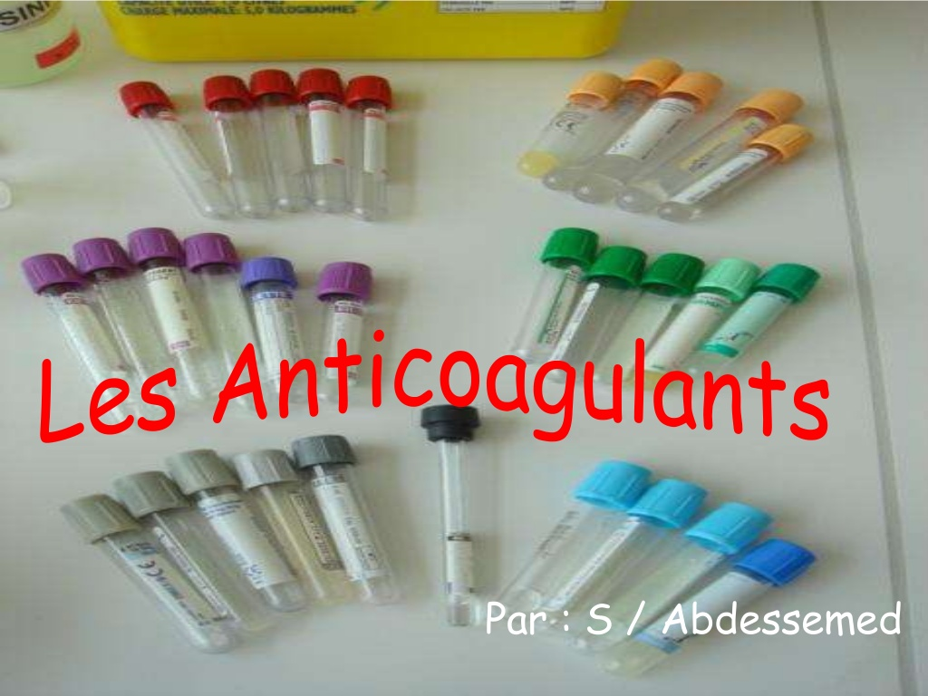 Les anticoagulants .PDF