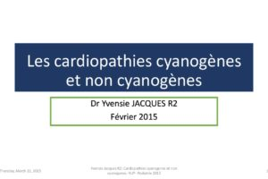 Les cardiopathies cyanogènes et non cyanogènes .PDF