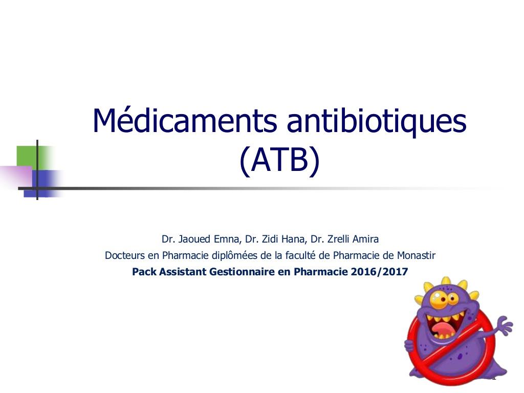 Les médicaments antibiotiques .PDF