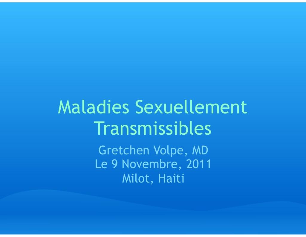 Maladies Sexuellement Transmissibles .PDF
