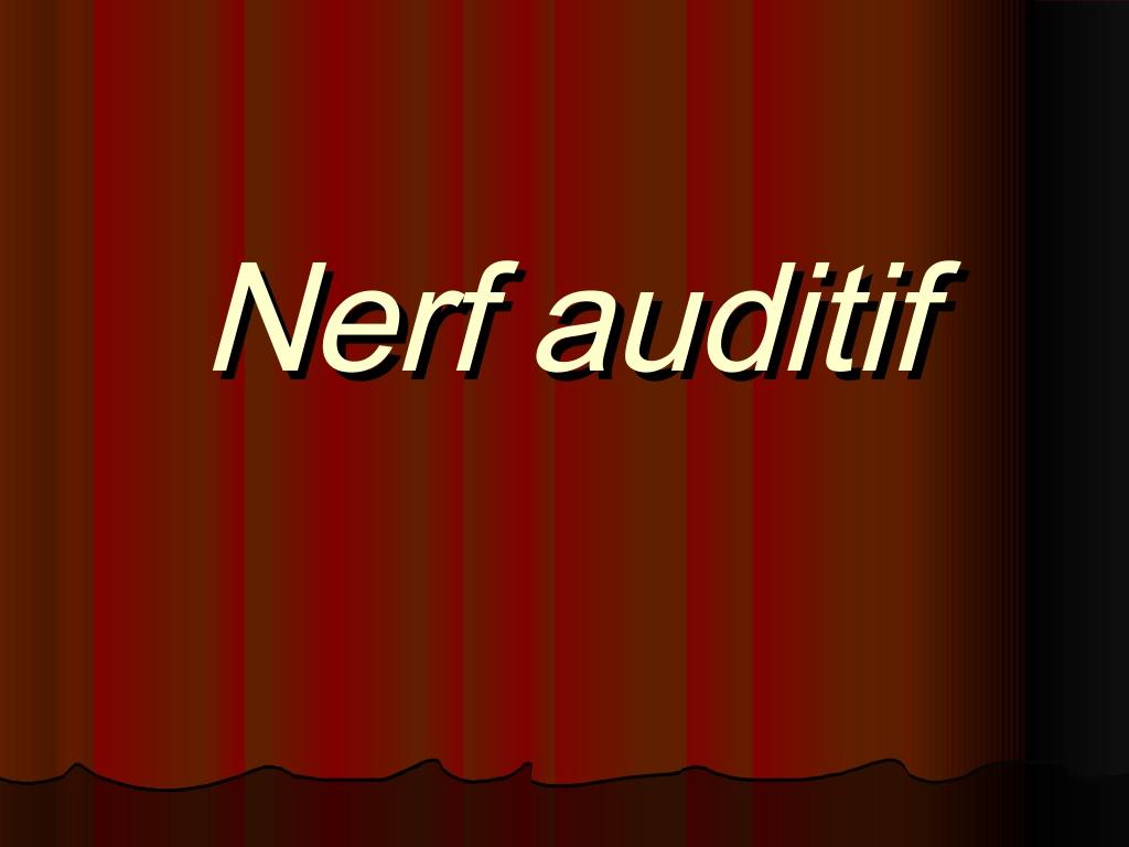 Nerf auditif .PDF