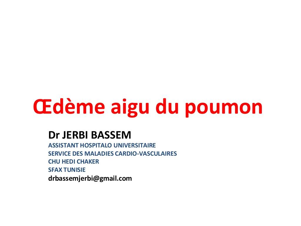 Prise en Charge Œdème Aigu des Poumons .PDF