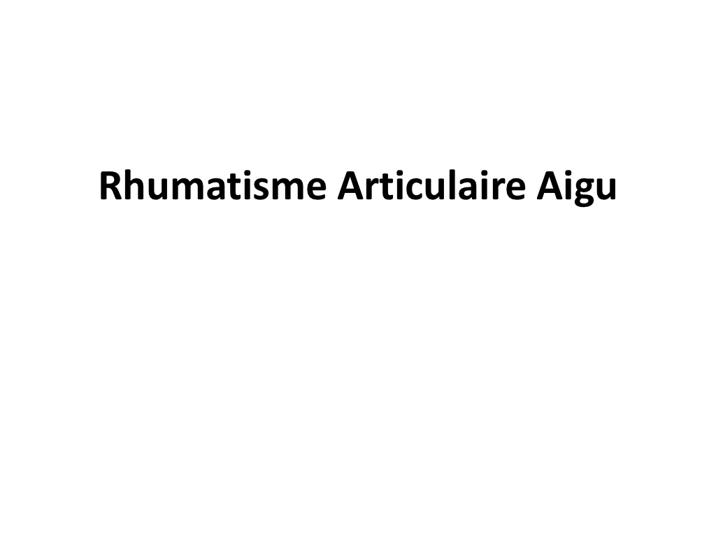 Physiopathologie Rhumatisme articulaire aigu .PDF