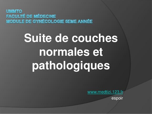 Suite de couches normales et pathologiques .PDF