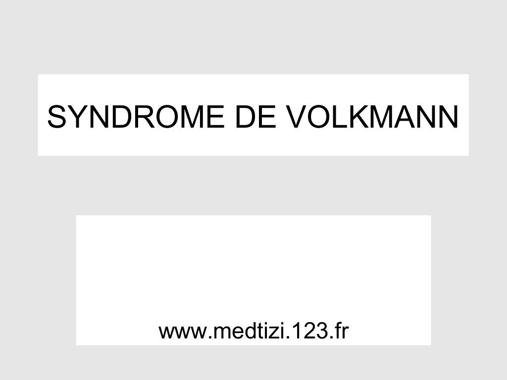 Syndrome de volkmann .PDF