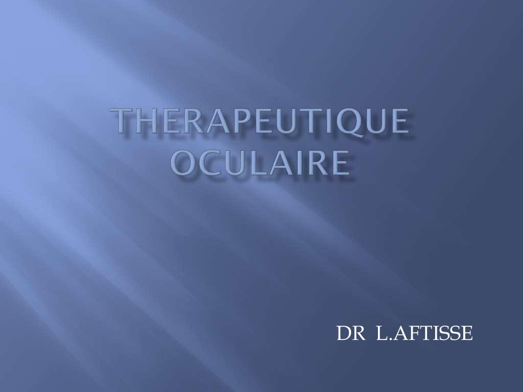 Thérapeutique oculaire .PDF