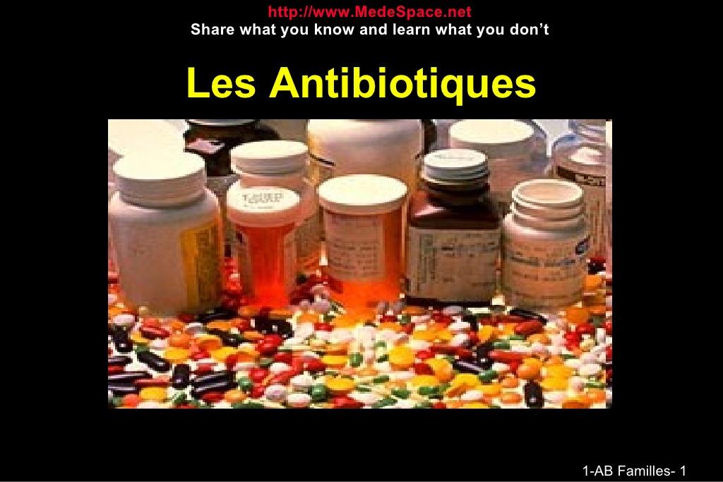 Tout savoirs sur les antibiotiques .PDF