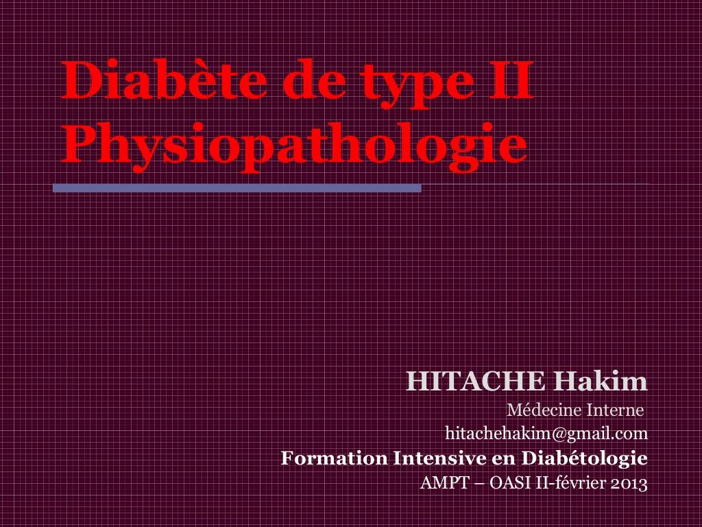 Diabète de type II Physiopathologie .PDF